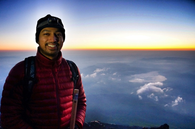 Sunrise at Mount Fuji Summit