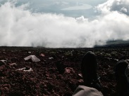 Sitting on Mount Fuji's Edge