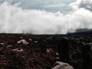 Sitting on Mount Fuji's Edge